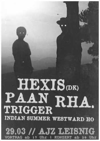 HEXIS, PAAN, RHA., TRIGGER, INDIAN SUMMER WESTWARD