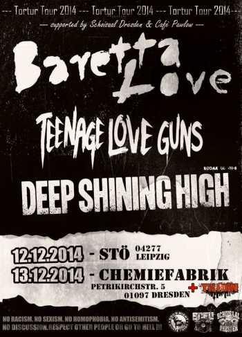 BARETTA LOVE, TEENAGE LOVE GUNS, TILIDIN, DEEP SHINING HIGH
