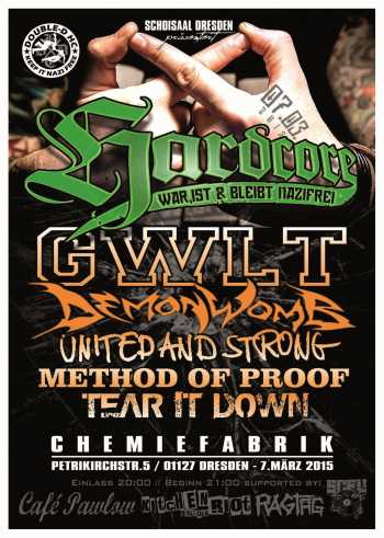 GWLT, DEMONWOMB, METHOD OF PROOF, UNITED AND STRONG, TEAR IT DOWN