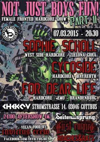 SOPHIE SCHOL, CYCOSIDE,  FOR DEAR LIFE