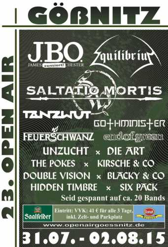 J.B.O.,  SALTATIO MORTIS, EQUILIBRIUM, TANZWUT, GOTHMINISTER, END OF GREEN, FEUERSCHWANZ, UNZUCHT, DIE ART, THE POKES, KIRSCHE & CO, DOUBLE VISION, BLACKY & CO, HIDDEN TIMBRE, SIX PACK