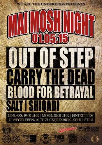 OUT OF STEP, CARRY THE DEAD, BLOOD FOR BETRAYAL, SALT, SHIQADI