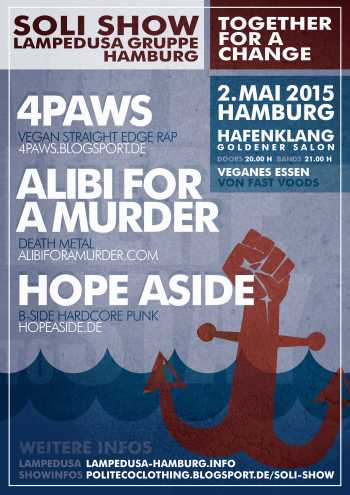 4PAWS, ALIBI FOR A MURDER, HOPE ASIDE