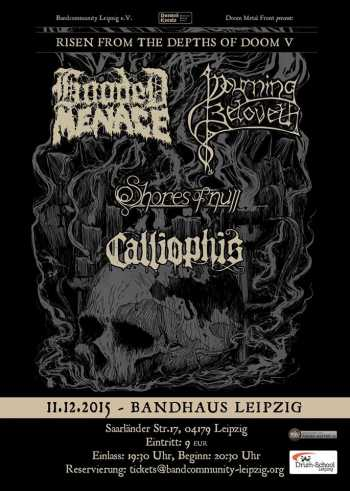 HOODED MENACE, MOURNING BELOVETH, SHORES OF NULL, CALLIOPHIS