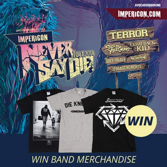 IMPERICON NEVER SAY DIE! TOUR 2014 VERLOSUNG