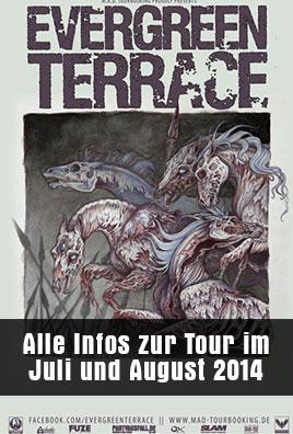 EVERGREEN TERRACE - Europatour im Juli und August 2014 bestätigt