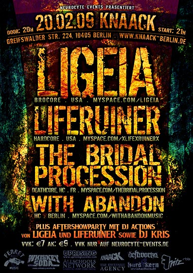 LIGEIA, LIFERUINER, THE BRIDAL PROCESSION, WITH ABANDON