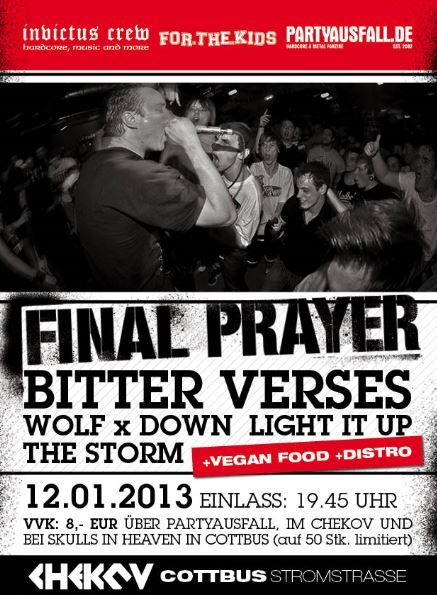 FINAL PRAYER, BITTER VERSES, WOLF X DOWN, LIGHT IT UP, THE STORM