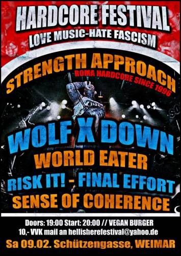 STRENGTH APPROACH, RISK IT!, WOLF X DOWN, WORLD EATER, FINAL EFFORT, SENSE OF COHERENCE