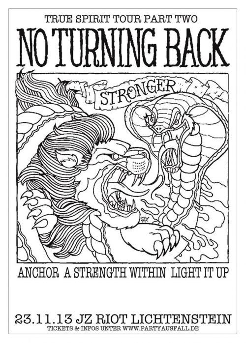NO TURNING BACK , ANCHOR, A STRENGTH WITHIN, LIGHT IT UP