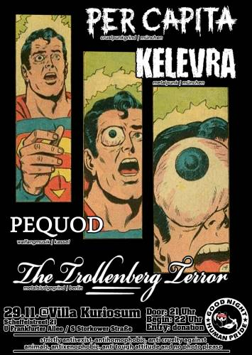 PER CAPITA, KELEVRA, PEQUOD, THE TROLLENBERG TERROR