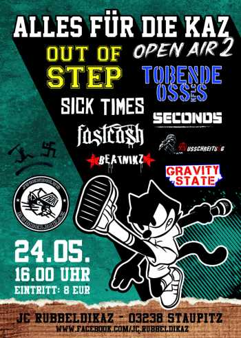 OUT OF STEP, TOBENDE OSSIS, SICK TIMES, SECONDS, FAST CASH, BEATNIKS, AUSSCHREITUNG, GRAVITY STATE