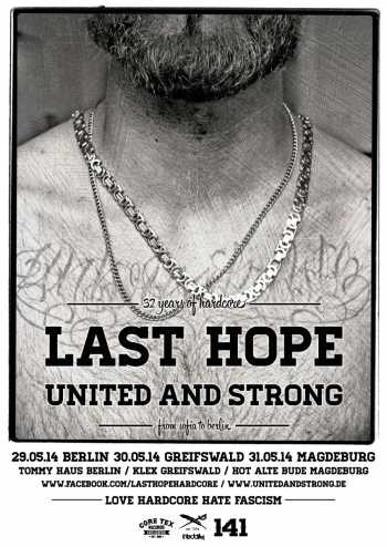 LAST HOPE, UNITED AND STRONG, STAND YOUR GROUND