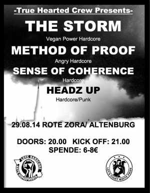 THE STORM, METHOD OF PROOF, SENSE OF COHERENCE, HEADZ UP
