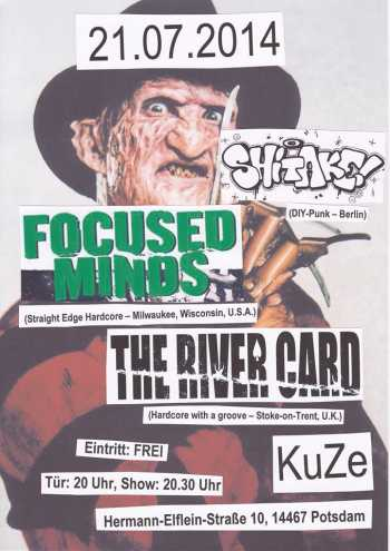 FOCUSED MINDS, THE RIVER CARD, SHITAKE