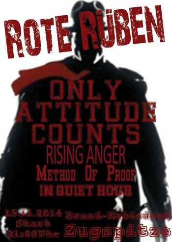 ONLY ATTITUDE COUNTS, RISING ANGER, IN QUIET HOUR, METHOD OF PROOF
