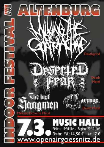 MILKING THE GOATMACHINE, DESERTED FEAR, THE LAST HANGMEN, CARNAGE