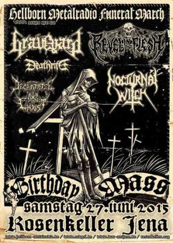 GRAVEYARD, REVEL IN FLESH,  NOCTURNAL WITCH,  DEATHRITE, DECAPITATED CHRIST