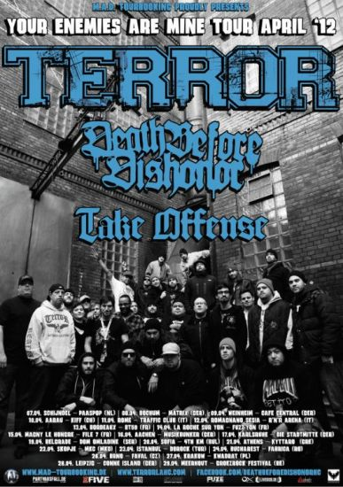 Terror Hardcore Tour Flyer